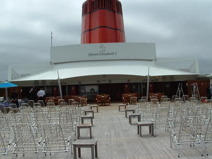 ACS Production implements outdoor bars and restaurants canopies for cruise ships and land buildings textile architecture